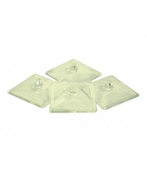 Set 4 couvercles verre S
